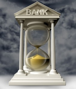 Hourglass in Bank